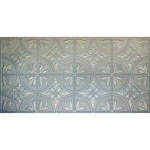 Glue-Up Traditional 2' x 4' Tin Ceiling Tile in Nickel