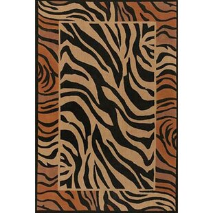 Affordable Doctor Phillips Brown/Black Area Rug By Bloomsbury Market