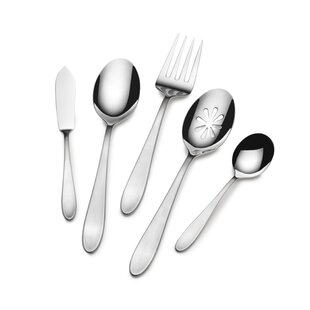Prescott Satin 22 Piece 18/10 Stainless Steel Flatware Set