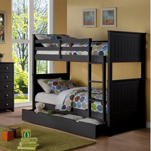 Watson Twin Over Twin Bunk Bed with Trundle and Drawers by Harriet Bee