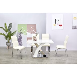 Leiser Dining Set With 4 Chairs By Metro Lane