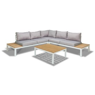 Galiano 4 Piece Sectional Seating Group with Cushions by Ivy Bronx