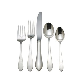 Pointed Antique 5 Piece Flatware Set, Service for 1