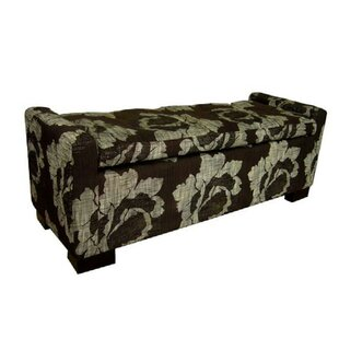 Michigamme Faux Leather Flip Top Storage Bench by Rosalind Wheeler