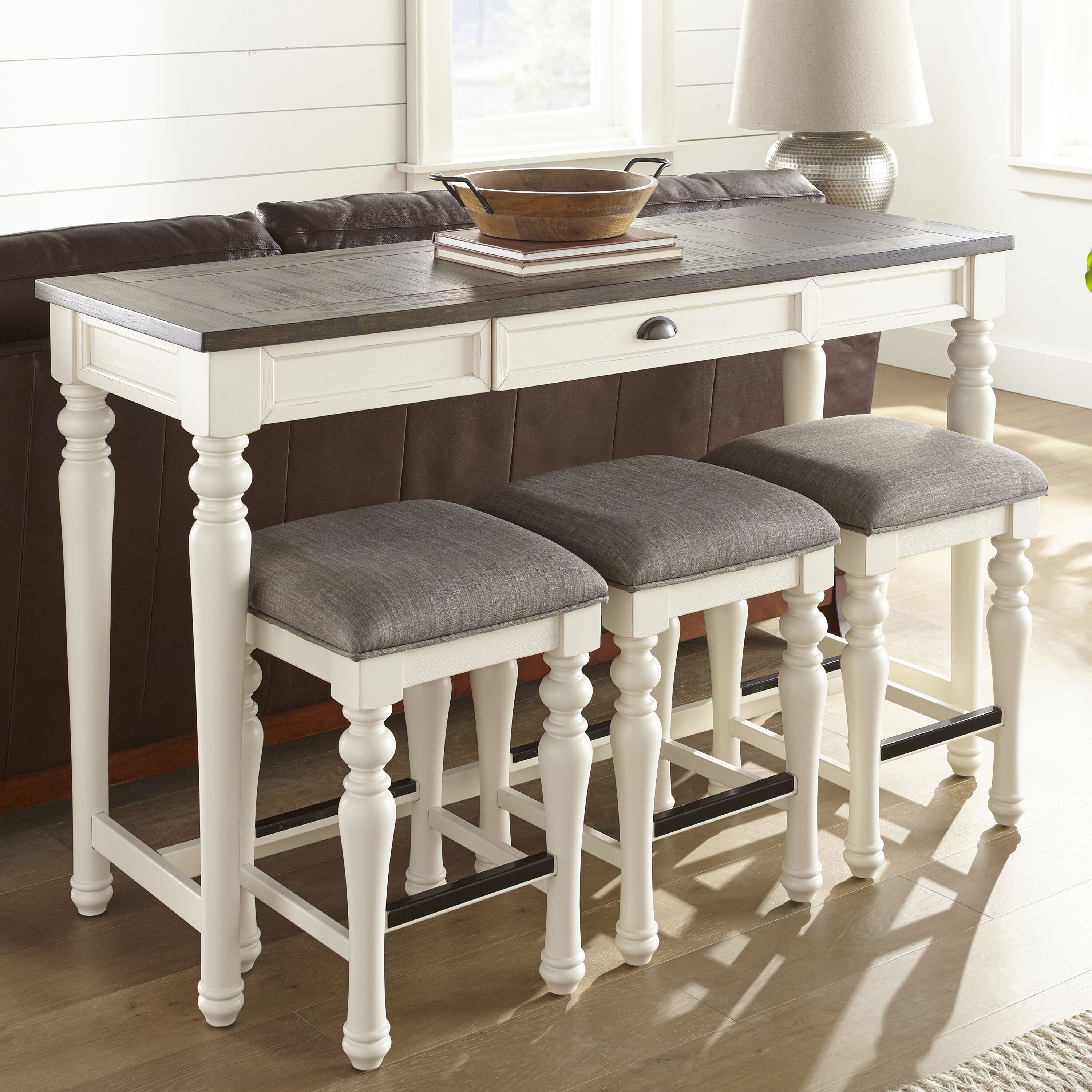 One Allium Way Dail 4 Piece Counter Height Dining Set Reviews Wayfair