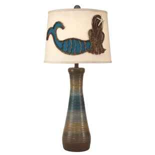 Hurwitz Ribbed Hour Glass Pot 33 Table Lamp