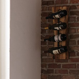 Bexton Live Edge Natural 4 Bottle Wall Mounted Wine Rack