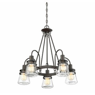 Gracie Oaks Wyble 5-Light Shaded Chandelier