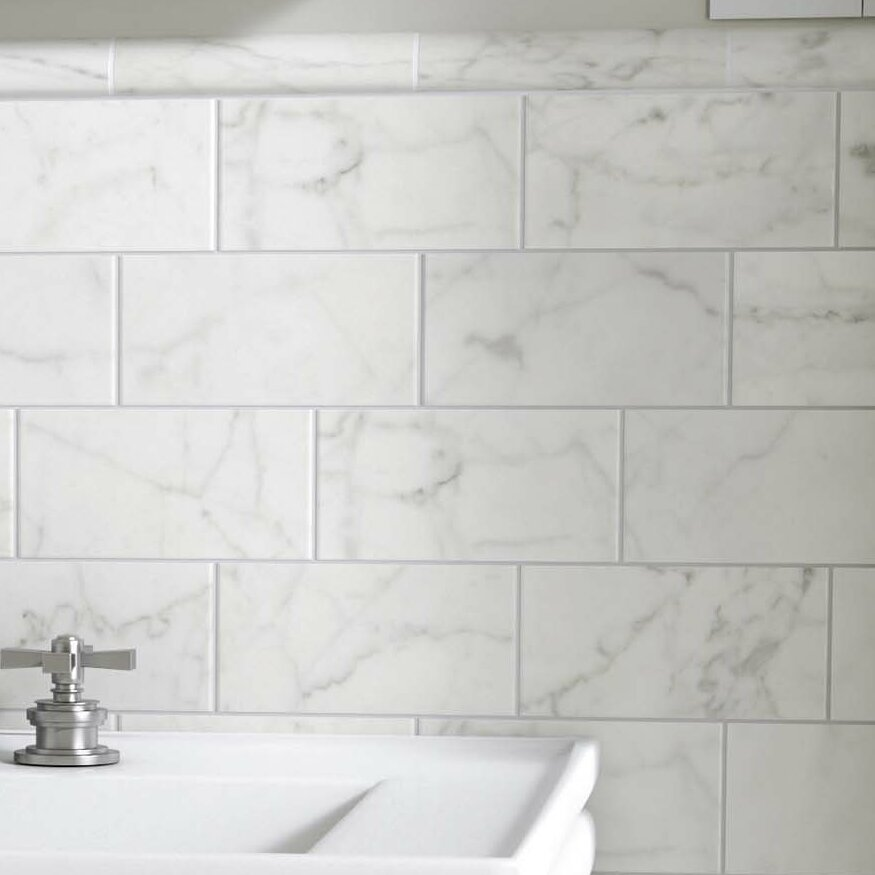 Elitetile Karra Carrara 3 X 6 Ceramic