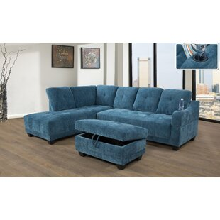 Annilyn 96 Sectional with Ottoman by Latitude Run