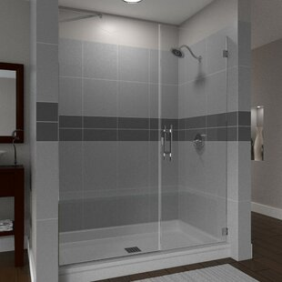 Scottsdale 34 x 72 Hinged Frameless Shower Door with Invisible Shield by Clean-X by Arizona Shower Door