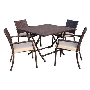 5 Piece Dining Set With Cushion by Jeco Inc. #2