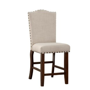 Compare prices Shepley Studded Trim Rubber Wood 24 Bar Stool (Set of 2) by Alcott Hill Reviews (2019) & Buyer's Guide