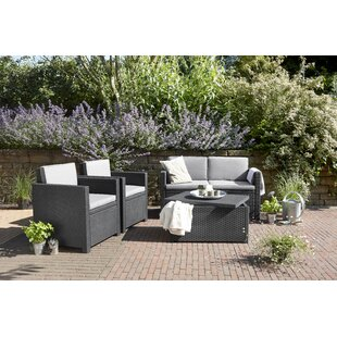 4 Seater Rattan Sofa Set By Keter