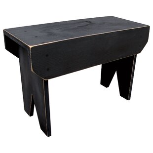 Wyatt Simple Wood Bench by Winston Porter