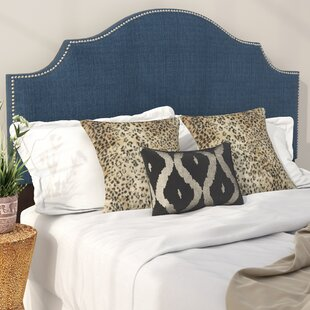 Eduard Nail Button Notched Upholstered Panel Headboard