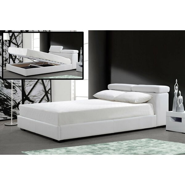 Orren Ellis Clower King Upholstered Storage Platform Bed   Wayfair