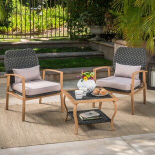 Find for Zaanstad 3 Piece Conversation Set with Cushions Inexpensive