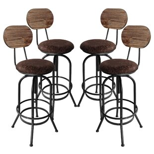 Poitras Adjustable Height Swivel  Bar Stool - set of 4 (Set of 4) by Gracie Oaks