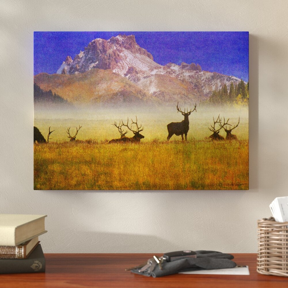 Elk Portrait Canvas Calling Picture Giclee Print Unframed Home Decor Wall Art