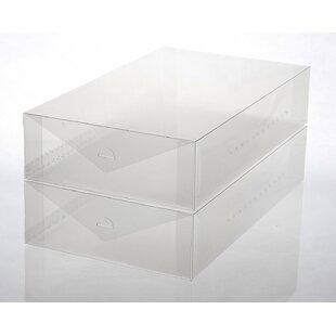 Plastic Boot Foldable 2 Pair Shoe Storage Box Set Rebrilliant
