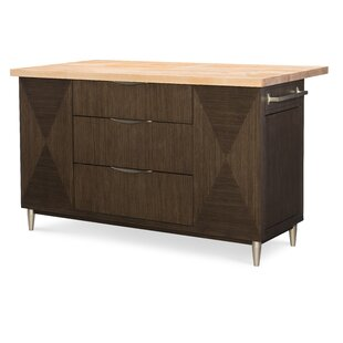 Soho by Rachael Ray Home Kitchen Island with Butcher Block by Rachael Ray Home