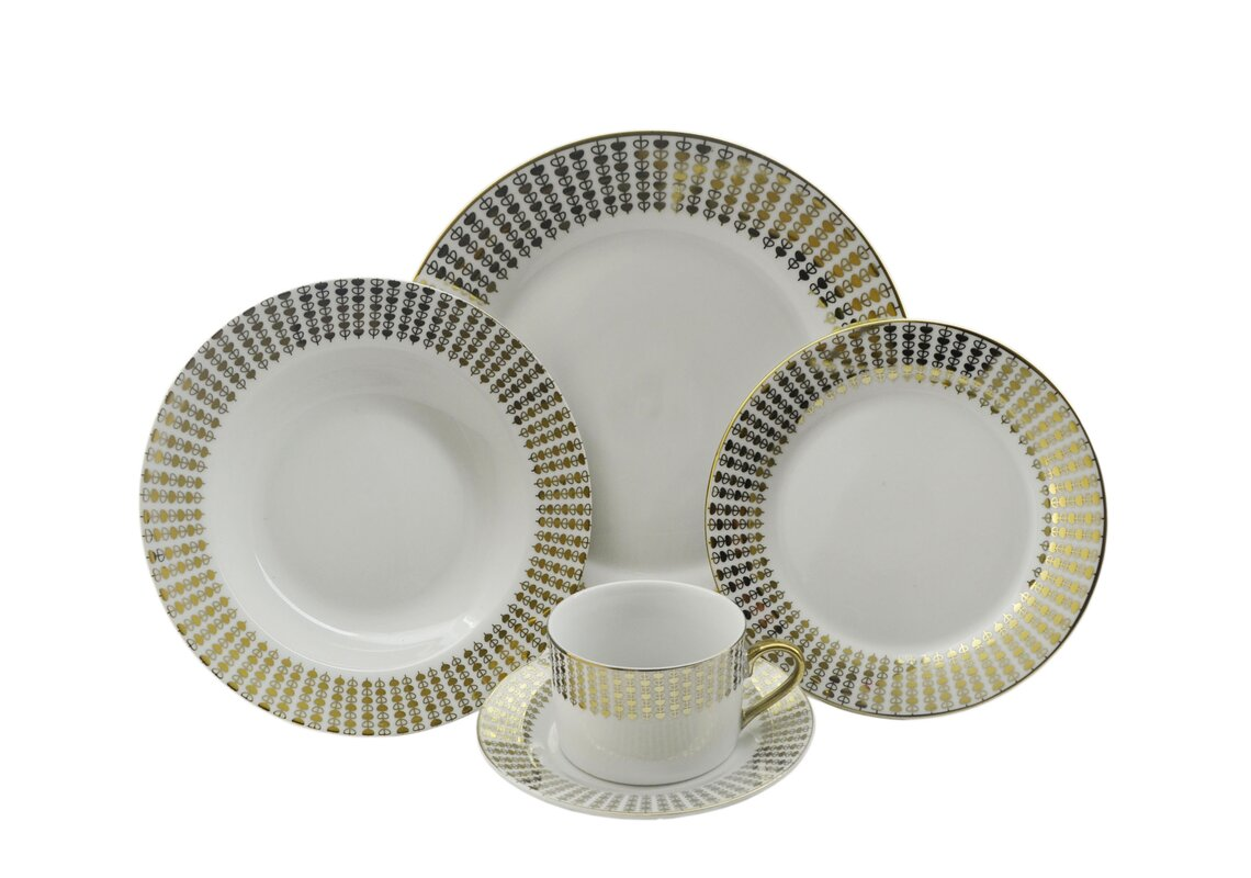 Hearts 40 Piece Dinnerware Set Service for 8  sc 1 st  Wayfair & Three Star Hearts 40 Piece Dinnerware Set Service for 8 \u0026 Reviews ...