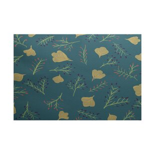 Orchard Lane Teal Indoor/Outdoor Area Rug