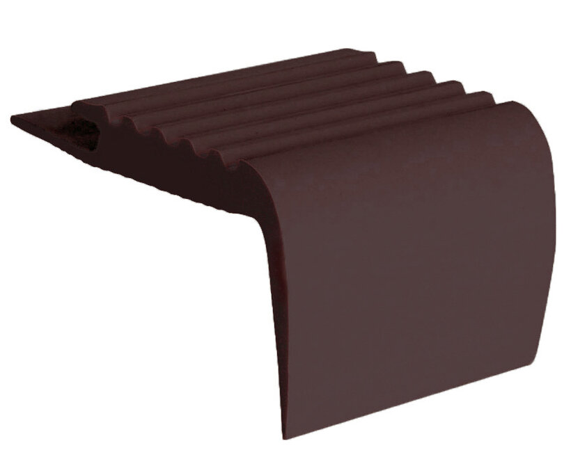 Roppe Rubber 0 19 Thick X 108 Wide X 2 25 Length Stair Nose In Brown Wayfair