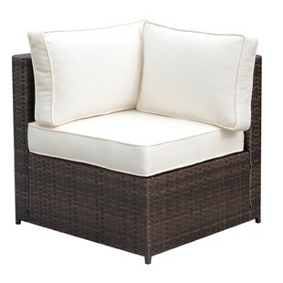 Kilmarnock Faux Rattan Corner Patio Chair with Cushions