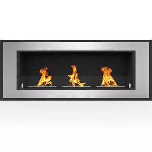 Maybelle Recessed  Wall Mounted Bio-Ethanol Fireplace By Orren Ellis