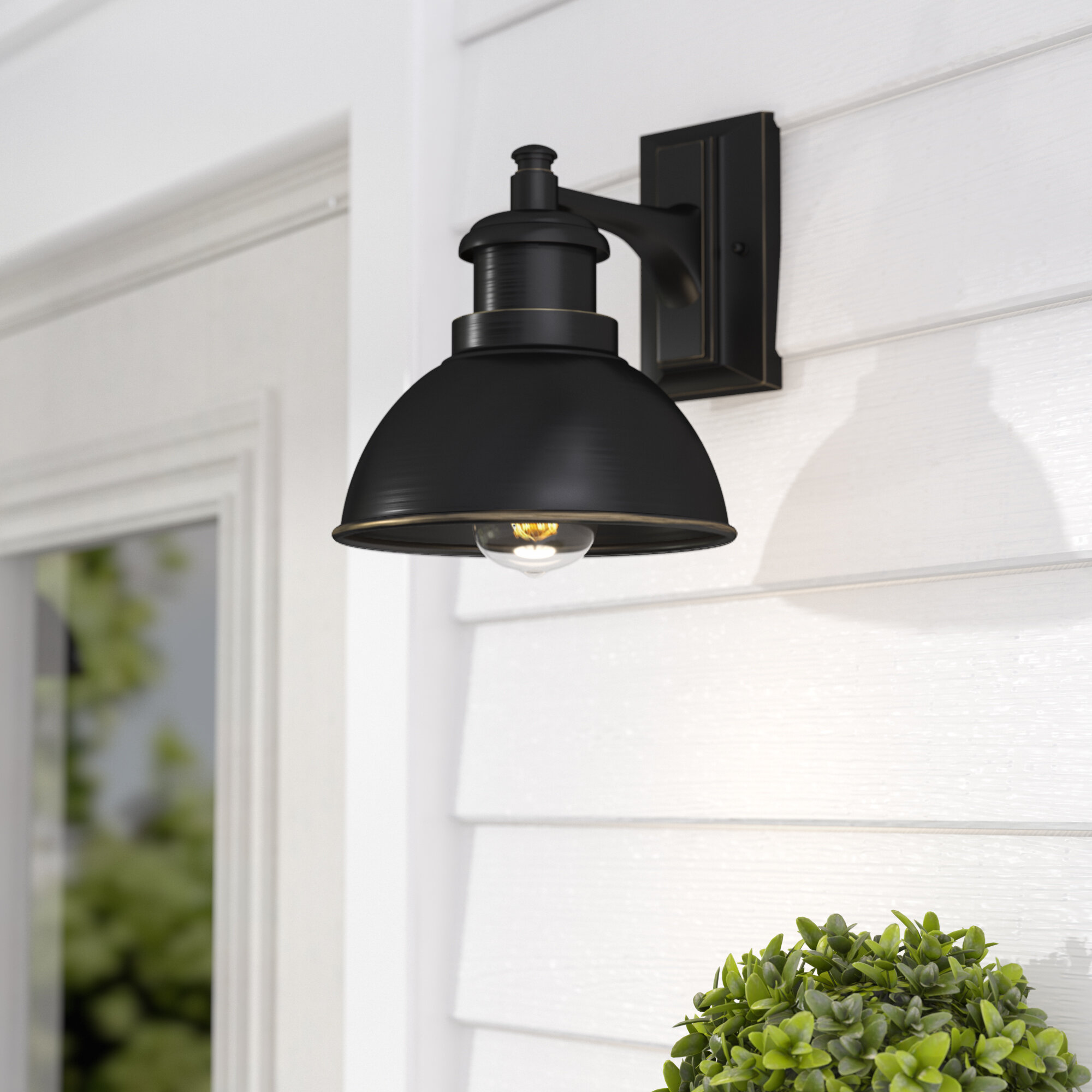 outside barn lights sconces gracie oaks elisha led outdoor barn light reviews wayfair