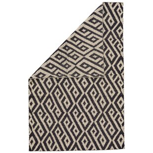 Reiber Hand-Woven Wool Black/White Area Rug By Bloomsbury Market