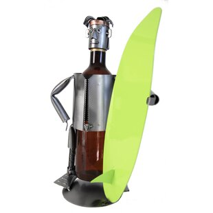 Surfer 1 Bottle Tabletop Wine Rack by H &..