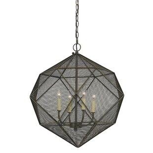 17 Stories Sayer 4-Light Geometric Chandelier