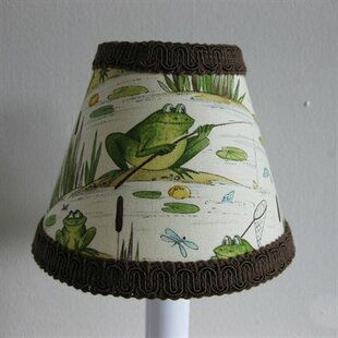 Fishing Frogs 11 Fabric Empire Lamp Shade