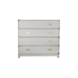 Carlyle Campaign Large 4 Drawer Accent Chest by Ave Home
