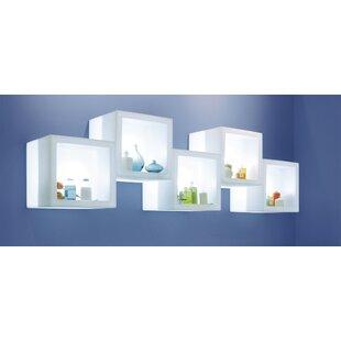 Brayden Studio Lamb Open Cube Bookcase