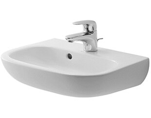 D-Code Ceramic 18 Wall Mount Bathroom Sink with Overflow Duravit