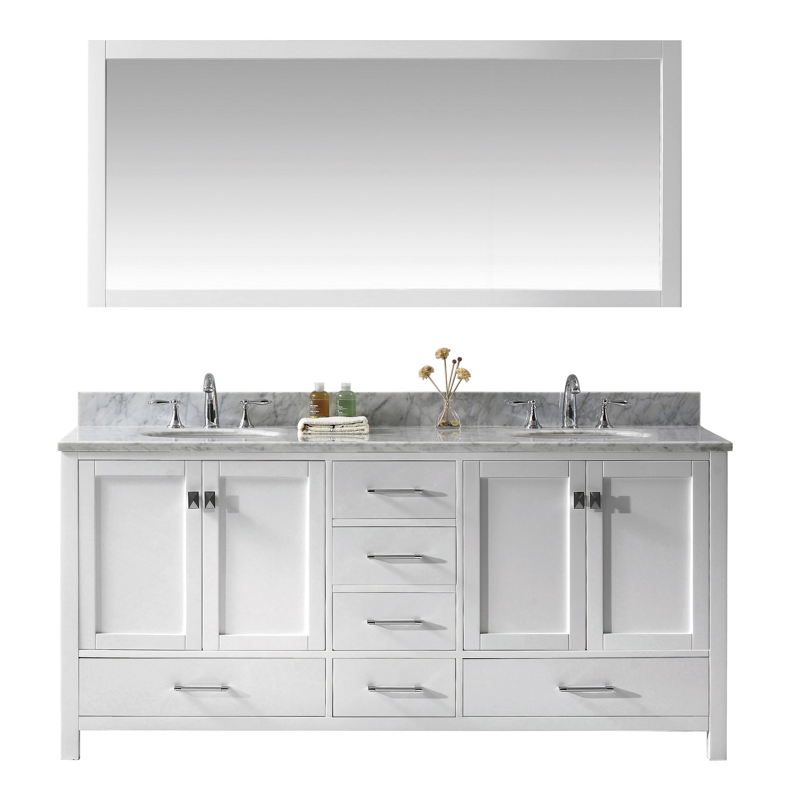 Willa Arlo Interiors Serigne 72 Double Bathroom Vanity Set With Mirror Reviews Wayfair