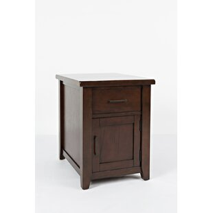 Duane Wooden End Table with Storage