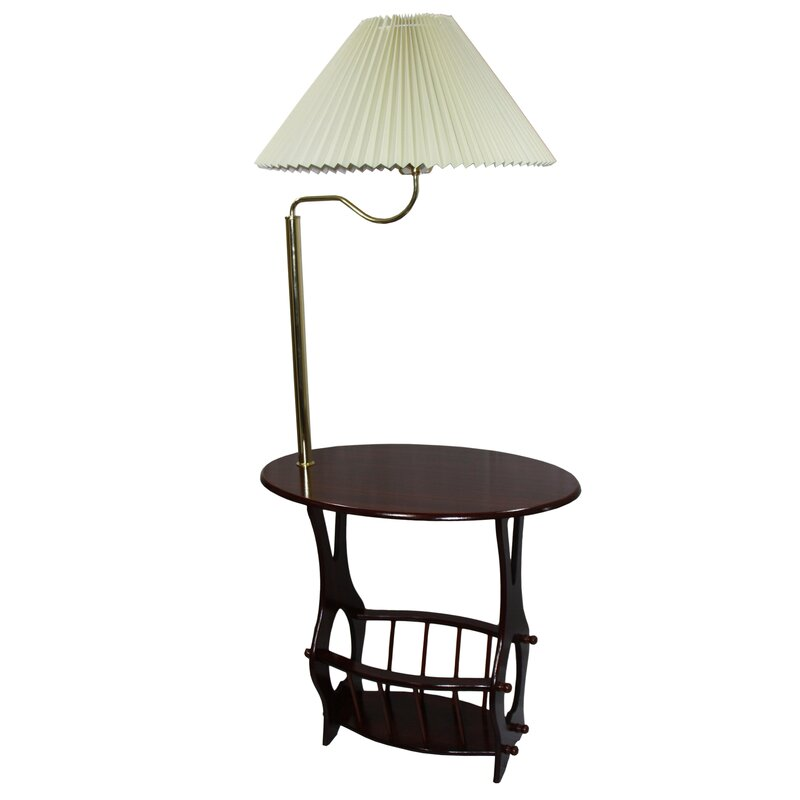 Awesome Portersville Floor Lamp End Table Magazine Rack Combination