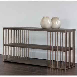 Daphane Smoked Console Table