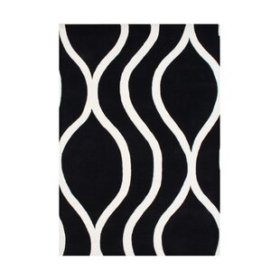 Look for White City Hand-Tufted Black/White Area Rug By The Conestoga Trading Co.