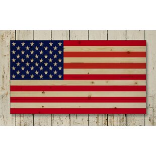 U0027American Flag Palletu0027 Photographic Print On Wood