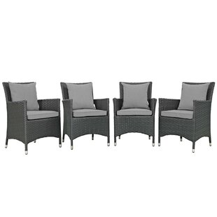 Tripp Patio Dining Chair with Cushion (Set of 4)