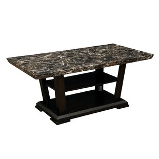 Grantville Wooden Faux Marble Top Coffee Table by Ebern Designs