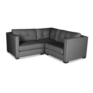 Timpson Buttoned Right and Left Arms L-Shape Mini Modular Sectional