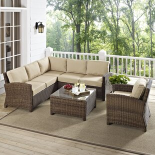 Beachcrest Home Dardel 5 Piece Sectional Set with Cushions