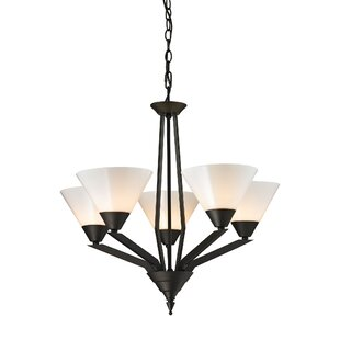 Ivy Bronx Abrielle 5-Light Shaded Chandelier